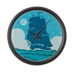 Ship Large Wall Clock