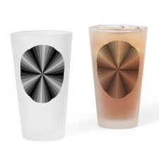Black Illusion Drinking Glass