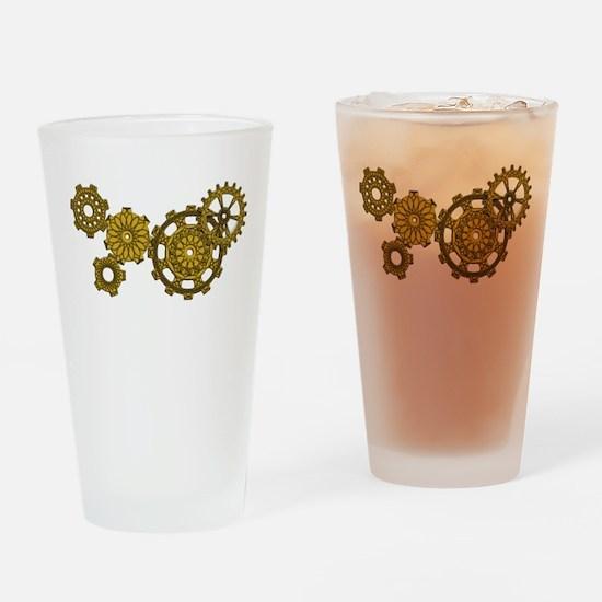 Woven Clockwork Pint Glass