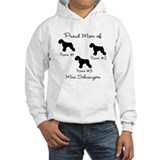Miniature schnauzer mom Hooded Sweatshirt