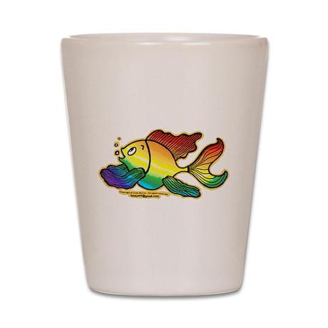 Rainbow Fish Shot Glass