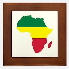 Africa Reggae Framed Tile