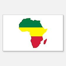 Africa Reggae Sticker (Rectangle)