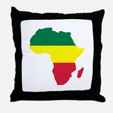 Africa Reggae Throw Pillow