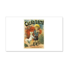 Cacao Lacte 1893 Classic Poster 22x14 Wall Peel