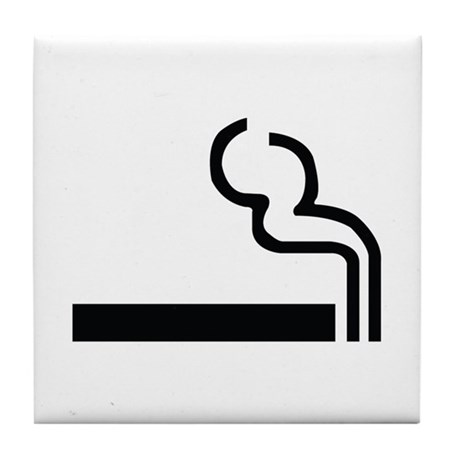 Smoking Image Tile Coaster