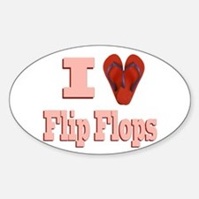 I love Flip Flops Decal