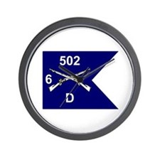 D Co. 6/502nd Wall Clock
