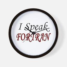 """""""I Speak FORTRAN"""" Wall Clock"""