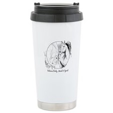 Yin Yang Horse Head - Travel Mug