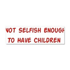 No Breeder Ego Car Magnet 10 x 3