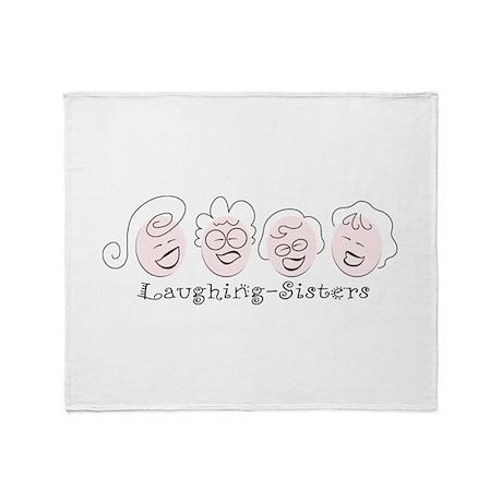 Laughing-Sisters Throw Blanket