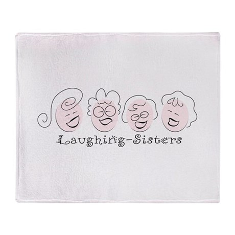 Laughing-Sisters Throw Blanket