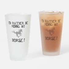 Rather...Horse! Pint Glass