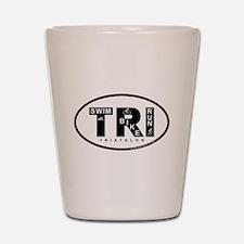Thiathlon Swim Bike Run Shot Glass