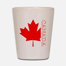 Candian Maple Leaf Shot Glass