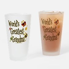 Grandma Butterflies Pint Glass