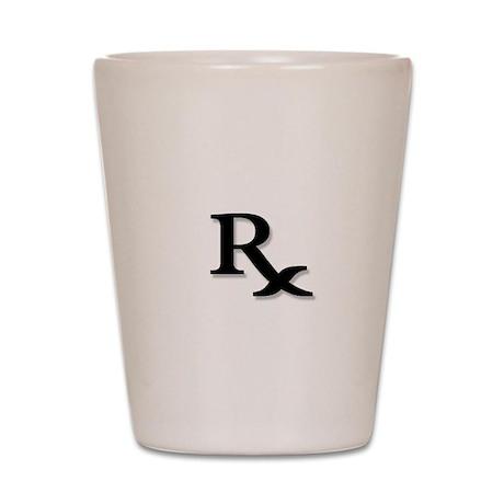 Pharmacy Rx Symbol Shot Glass