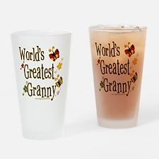 Granny Butterflies Pint Glass