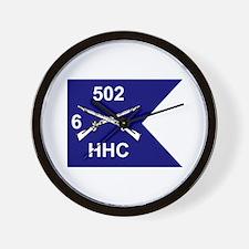 HHC 6/502nd Wall Clock