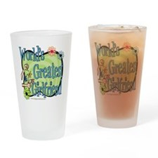 Greatest Girlfriend Floral Pint Glass