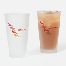 ponies rule (multi) Pint Glass