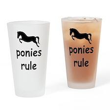 ponies rule Pint Glass
