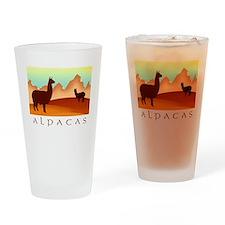 alpacas / mountains Pint Glass