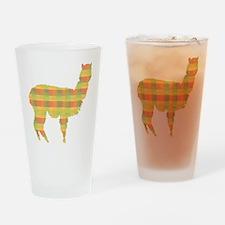 Plaid Alpaca Pint Glass