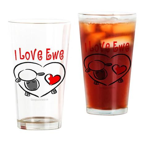 I Love You Pint Glass