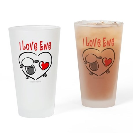 I Love You Pint Glass