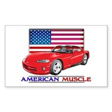 American Muscle Viper Rectangle Decal