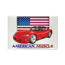American Muscle Car Viper Rectangle Magnet