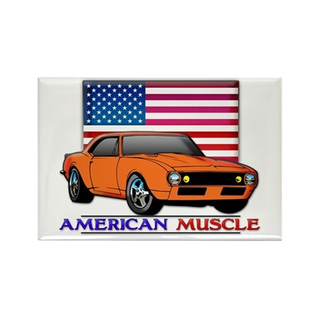 American Muscle Camaro Rectangle Magnet