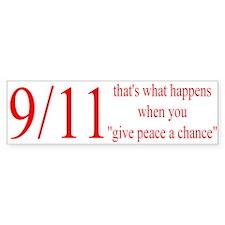 Give Peace a Chance Bumper Bumper Sticker