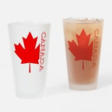 Candian Maple Leaf Pint Glass