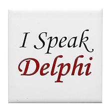 """I Speak Delphi"" Tile Coaster"