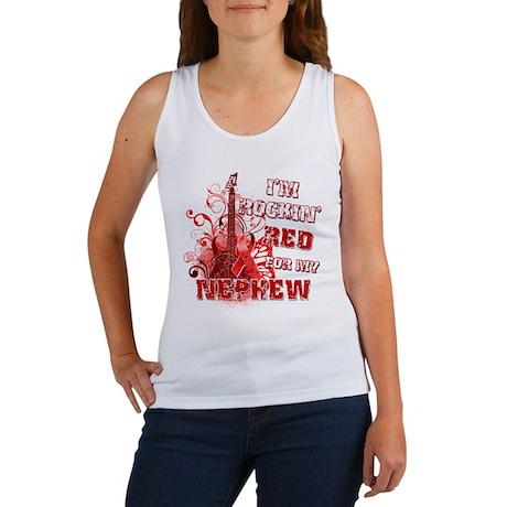 I'm Rockin' Red for my Nephew Women's Tank Top