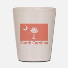 South Carolina Flag Shot Glass