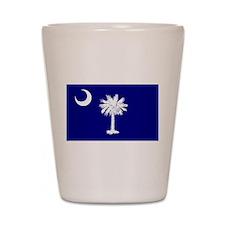South Carolina Flag Shot Glass