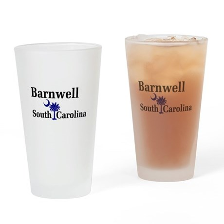 Barnwell South Carolina Pint Glass