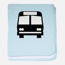Bus Stop Image baby blanket