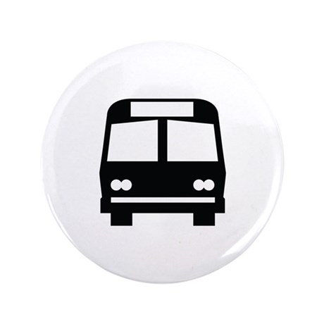 """Bus Stop Image 3.5"""" Button (100 pack)"""
