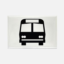 Bus Stop Image Rectangle Magnet