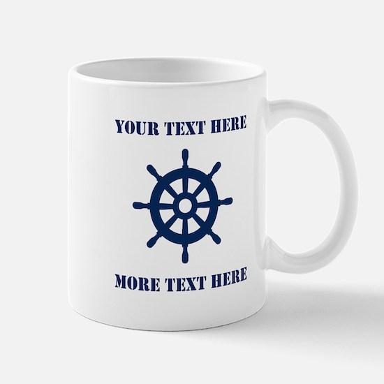 Custom Nautical Ship Wheel Coffee Mugs For Sailor