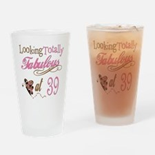 Fabulous 39th Pint Glass