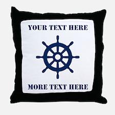 Custom Nautical Ship Wheel Throw Pillow Home Decor