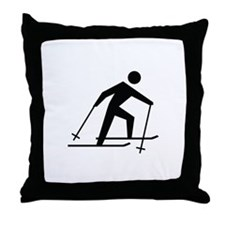 Cross Country Skiing Image Throw Pillow