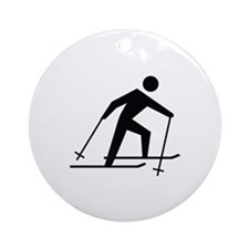 Cross Country Skiing Image Ornament (Round)