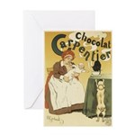 Carpentier Chocolate 1895 Classic Poster Greeting